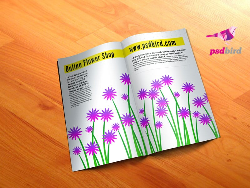 Flower background PSD