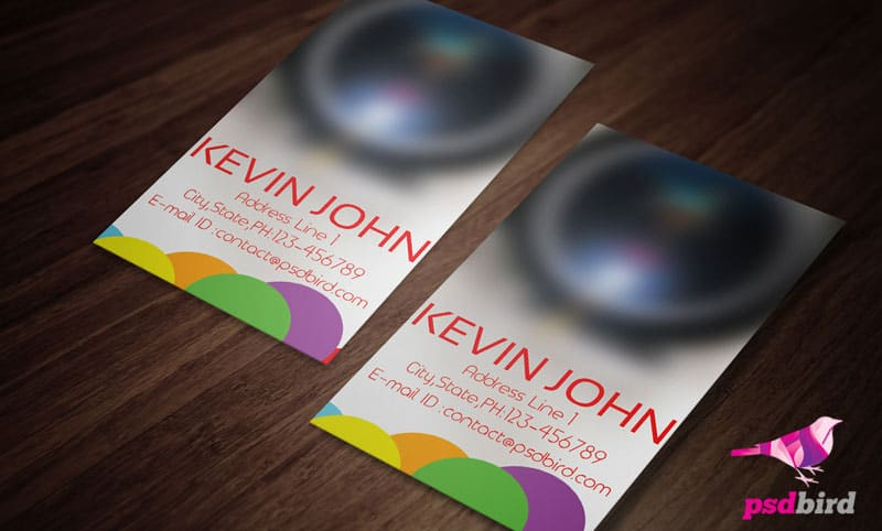 Free PSD business card for photographers
