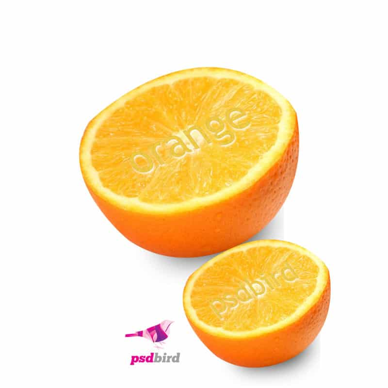 Text on the orange