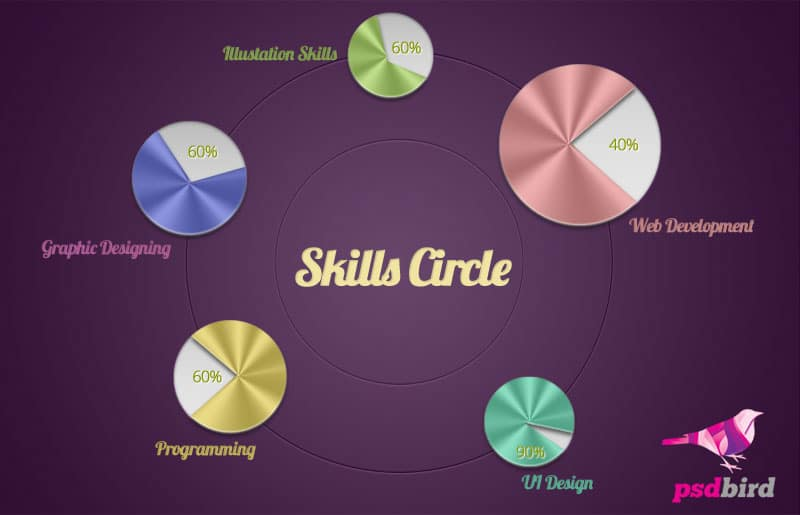 Free portfolio skill PSD