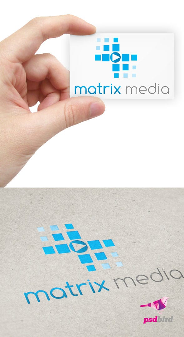 Free Matrix Media Logo Template