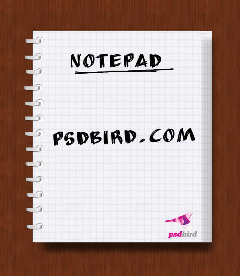 free note pad psd