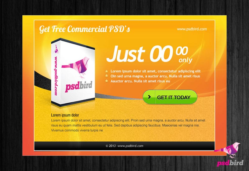 free web banner/ promotional page psd