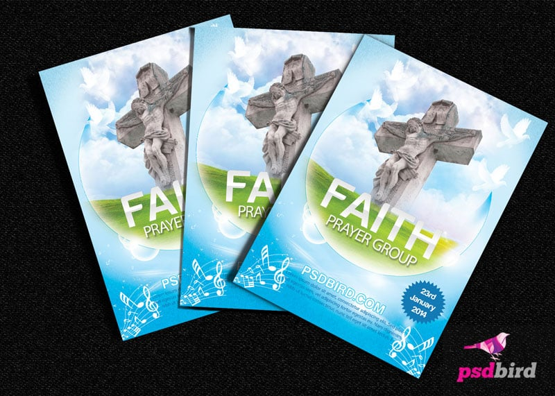 Charming Free Christian Church U0026 Religious Brochure PSD