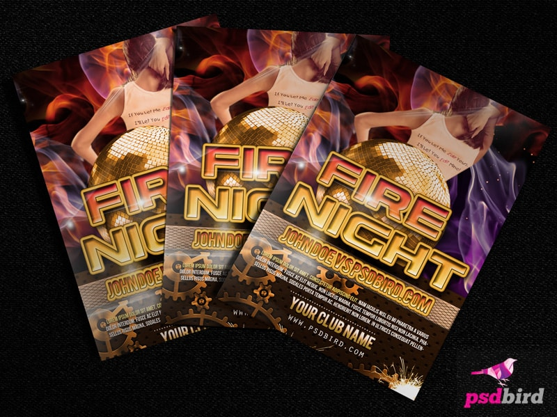 Free Urban Club Party Flyer PSD