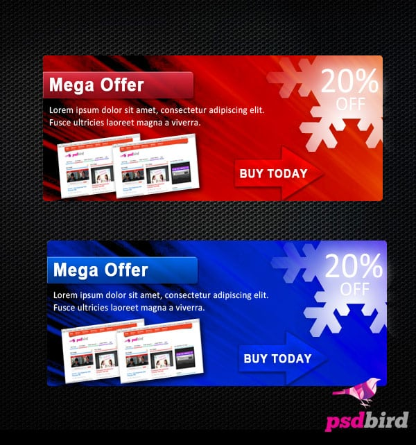 free web banner psd