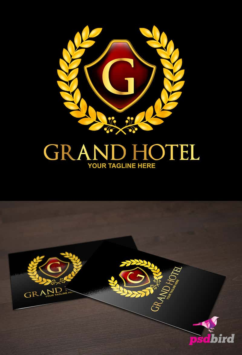 Free Grand- Royal Hotel Logo Template PSD