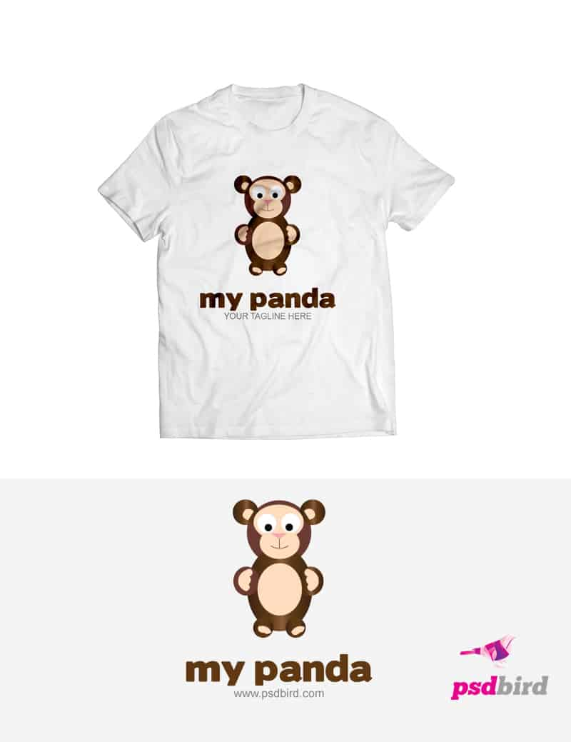 Free Panda - Teddy Bear Logo Template