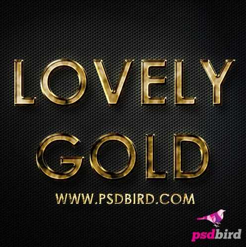Free Photoshop Gold Layer Style PSD & .ASL