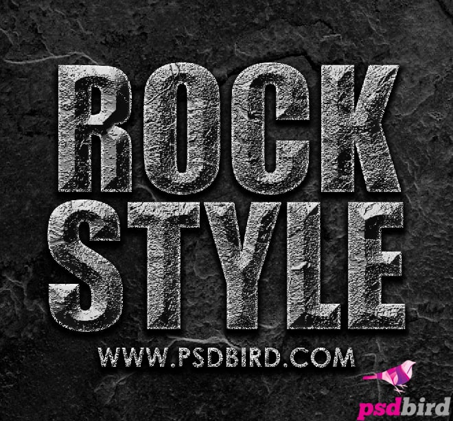 Free Photoshop Stone - Rock Layer Style PSD & .ASL