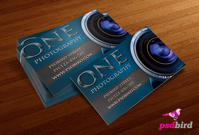Free business card templates for photographers psd reheart Images