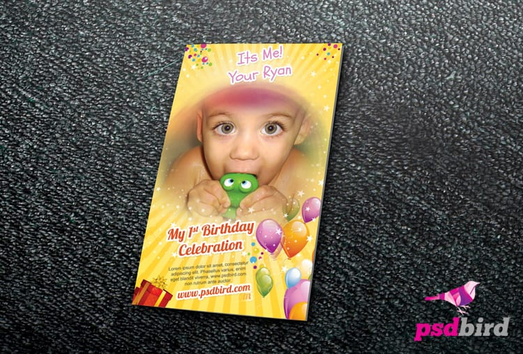 Free Birthday Invitation Card PSD