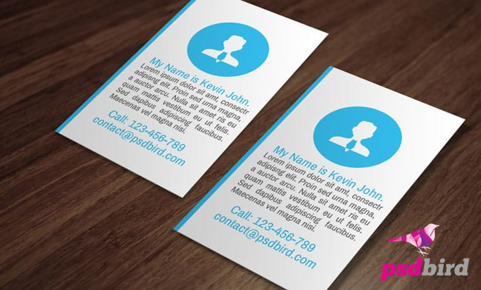Free Modern Flat Business Card Template PSD