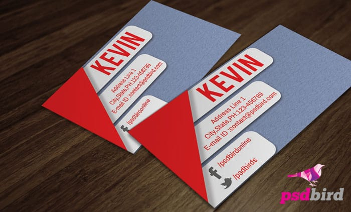 Free Stylish Business Card PSD