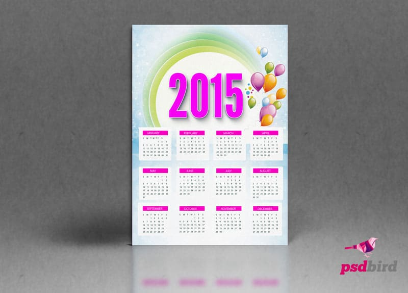 Free Calendar 2015 PSD download