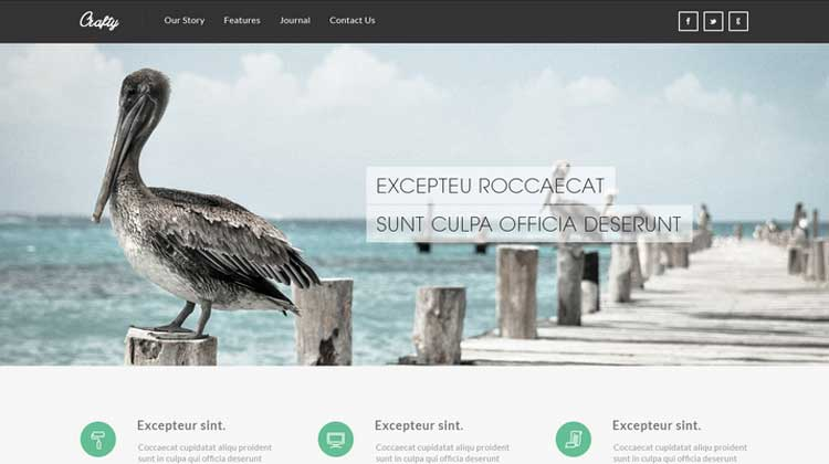 Crafty-HTML-Responsive-Template