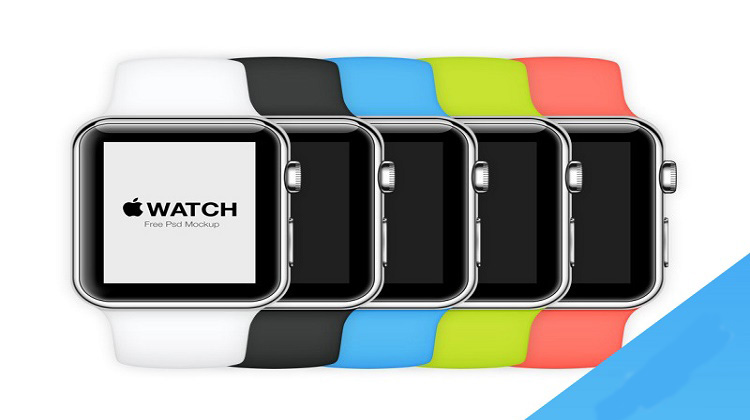 Apple Watch Mockup in 6 Colors