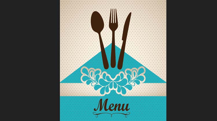 Creative Restaurant Menu cover vector