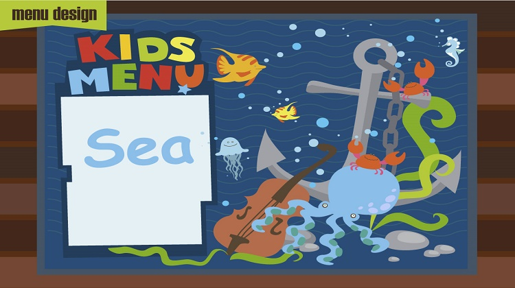 Kids Menu_Sea cartoons