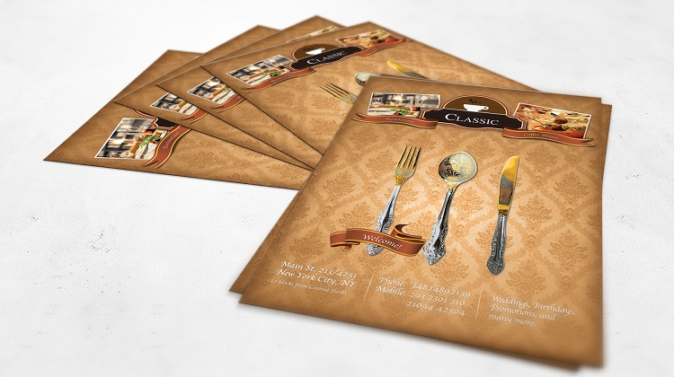 Luxury Restaurant A4 Flyer Template