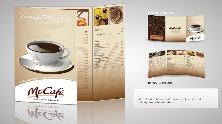 McCafe Menu design