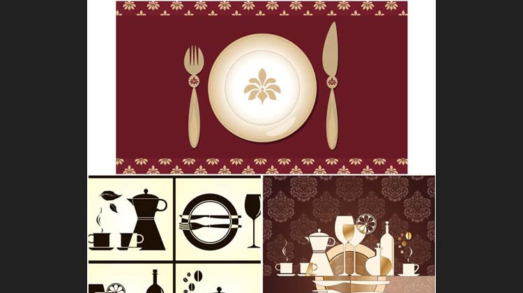 Restaurant menu templates vector
