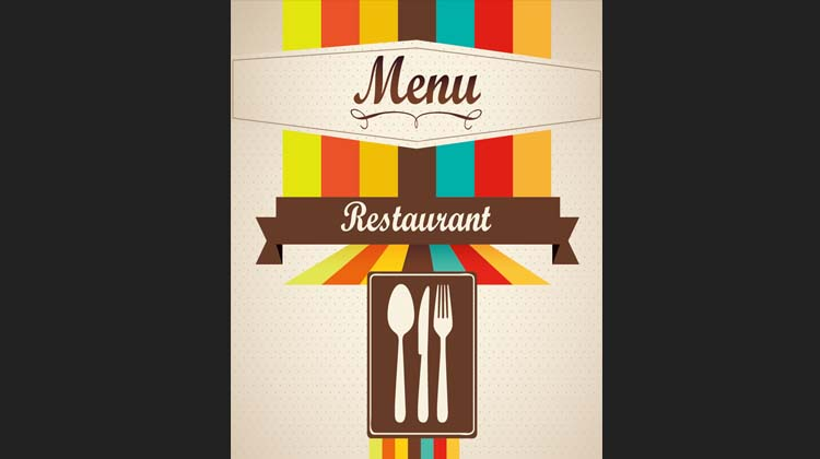 Retro Style Cafe Restaurant Menu Cover