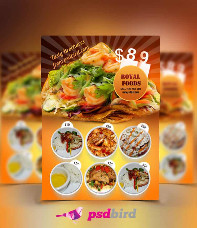Free Restaurant Menu card/Brochure PSD