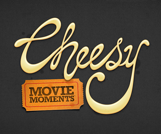 Cheesy Type by Leigh Whipday