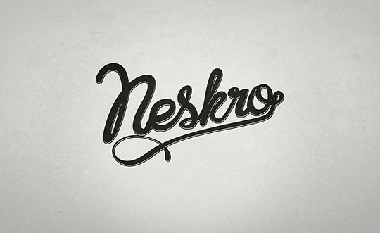 Neskro - Lettering - (project remained in the drawers) by 30 Dirty Fingers