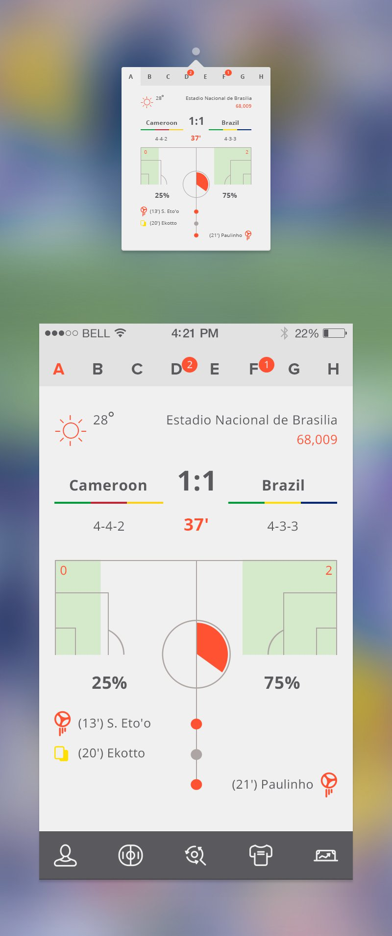 Soccer Apps Free PSD