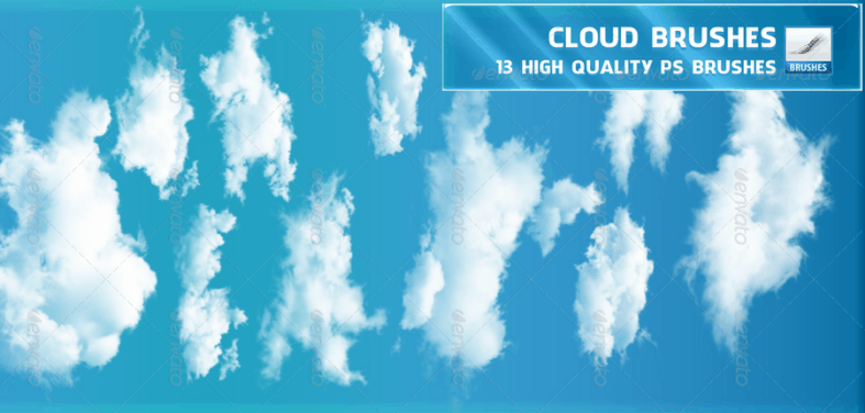 13 Photoshop High-Quality Cloud Brushes