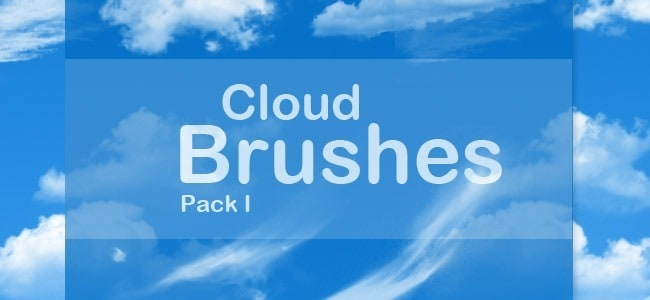 Photoshop Cloud Brushes Pack 1
