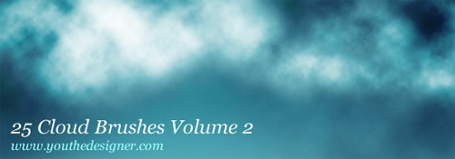 25 free clouds-photoshop-brushes-Vol 2