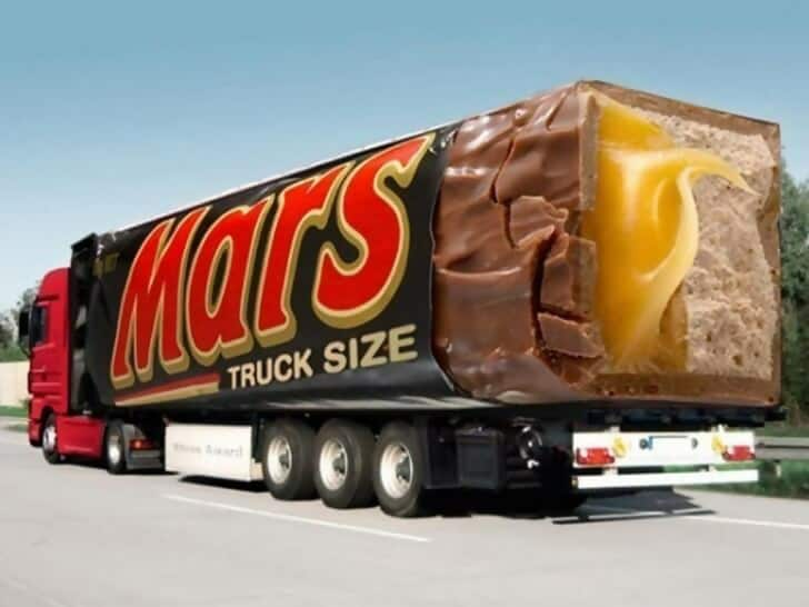 Mars Truck Size Advertisement Ideas