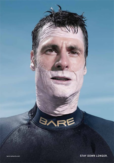 Bare Wetsuit Advertisement Design Ideas