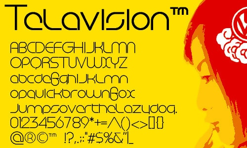 Telavision by Family Font Mart