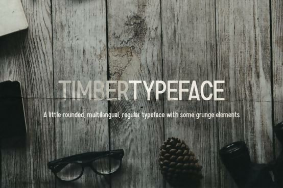 Timber Thin Typeface
