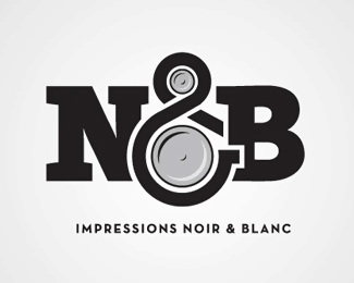 Impression Noir & Blanc Logo With Ampersand