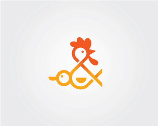Chicken & Duck Ampersand Logo