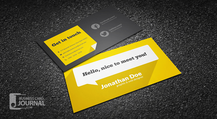 The Flat Card Design With Long Shadow