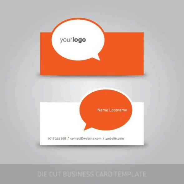 The Die Cut Business Card Template
