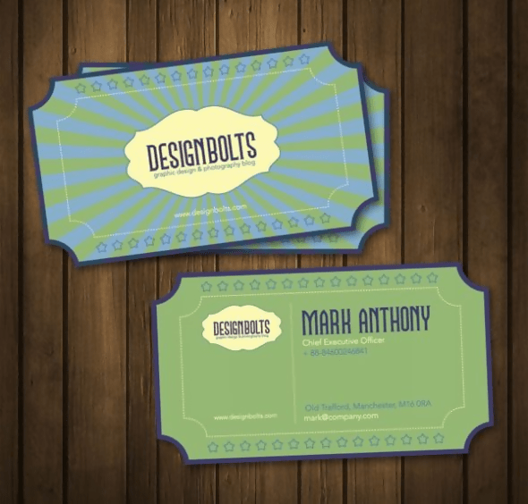 The Retro Business Card Design