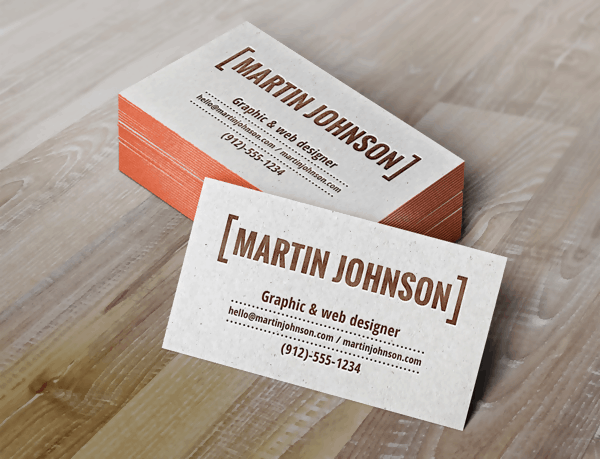 The Letterpress PSD Business Card
