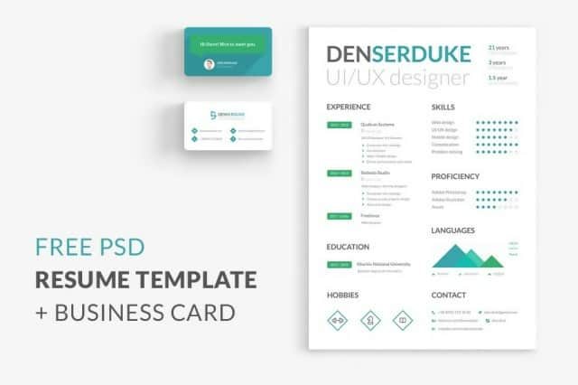 Clean and Creative Bio-Data in PSD