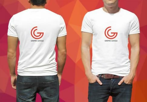 Free Man Model White T-Shirt Template