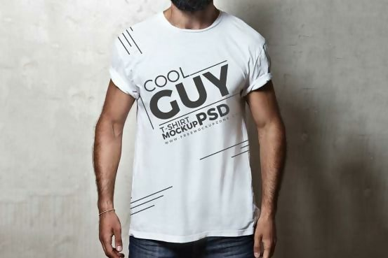 Free Cool Guy Male T-shirt Template