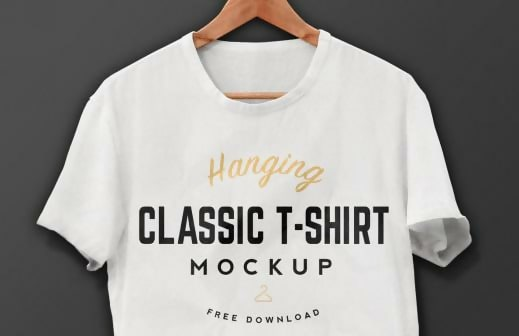 Hanging White T-Shirt Template