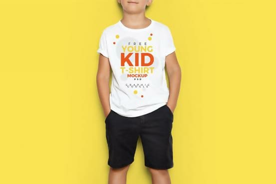 Free Young Kid T-shirt Template