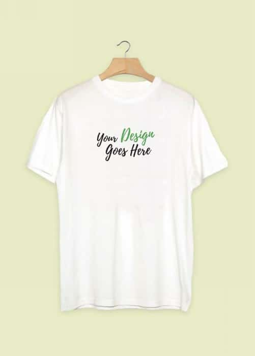 Clean White Hanging Realistic T-Shirt Template